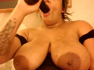 Samm Phoenix ppitting while she deep throats